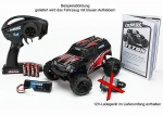 LaTrax TETON 2.4GHz waterproof +12V-Lader 1:18 4WD Elektro Monstertruck, Karosserie schwarz-blau